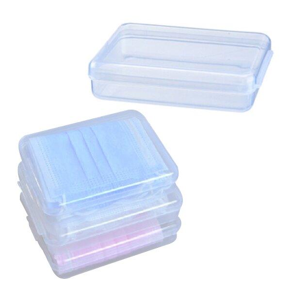 口罩收納盒 粉撲海綿收納盒 睫毛收納盒 透明方型 收納睫毛 雙眼皮貼 化妝工具
