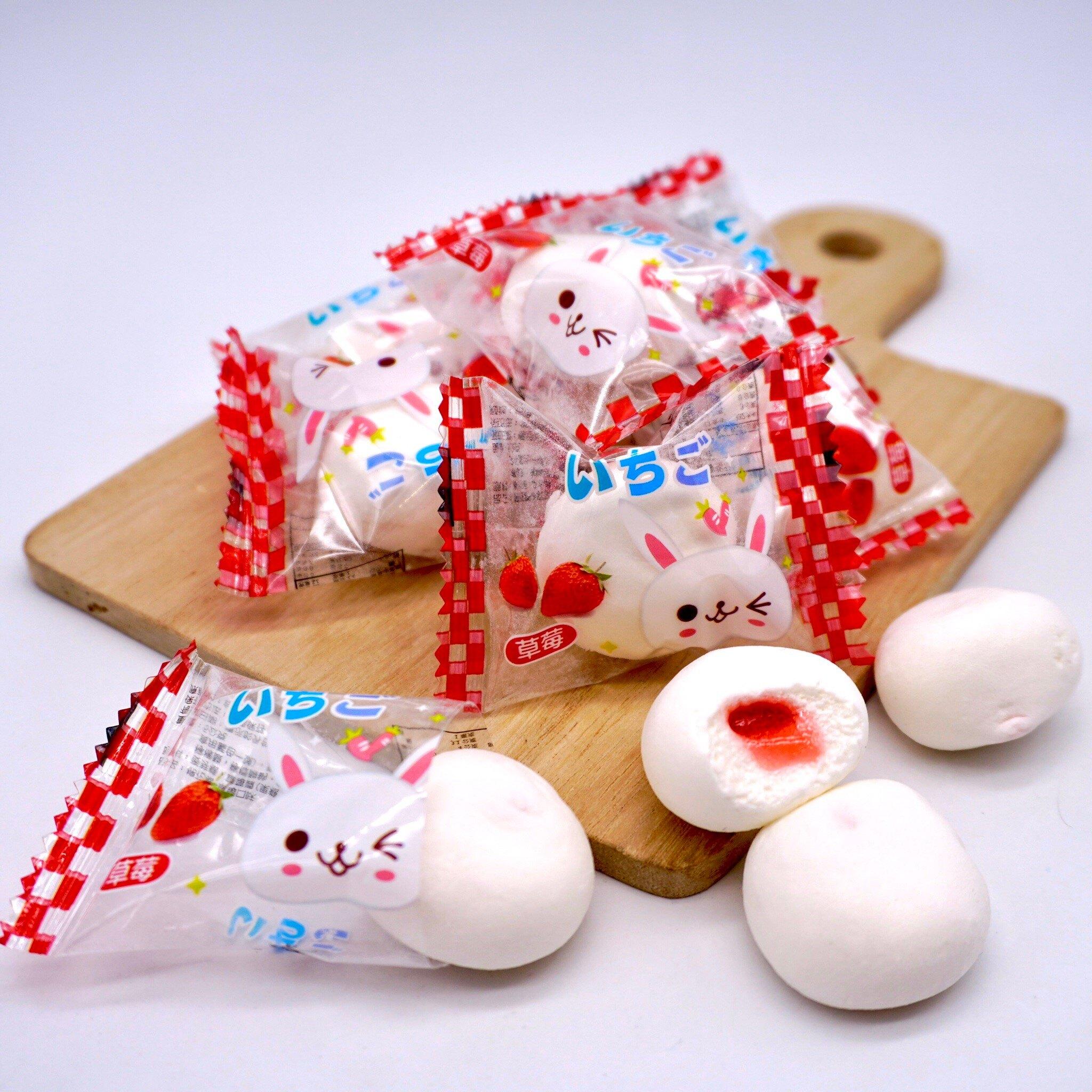 嘴甜甜 草莓夾心棉花糖 200公克 夾心系列 棉花糖 水果系列 水果夾心 包裝棉花糖 現貨
