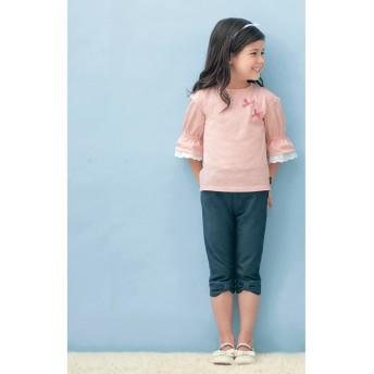 裾リボンパンツ【子供服 女の子】【通園 通学】