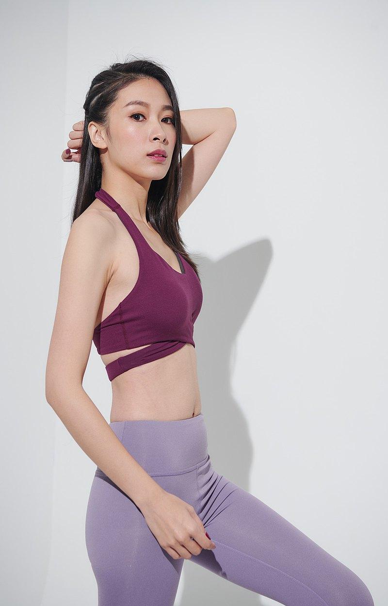 【Yoga Flow】Teresa Bra-Dark Purple    快速出貨 運動