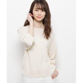 エッシュ ホールガーメント(R)7分袖ニット レディース ナチュラル(050) 42(L/ミセス) 【esche】
