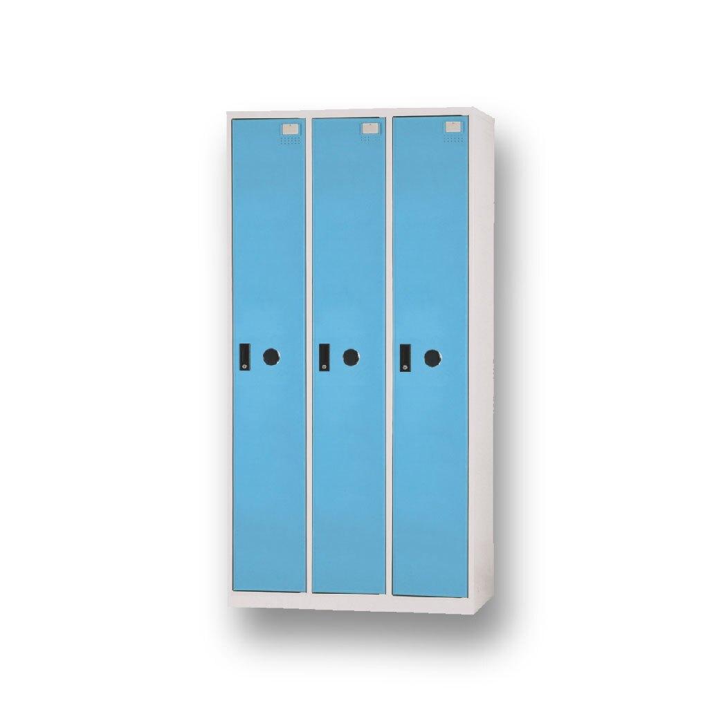 【哇哇蛙】DF-E5003TC 全鋼製淺藍色多用途置物櫃
