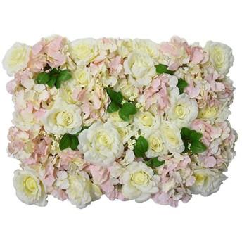 XIAOLIN 造花壁パネル結婚式シルクローズ3D背景結婚式パーティーの装飾柱メインロードデコ (Color : 03)