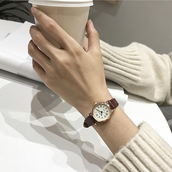 復古文藝ins風女生小清新款百搭手錶女中學生簡約潮流 - 風尚3C