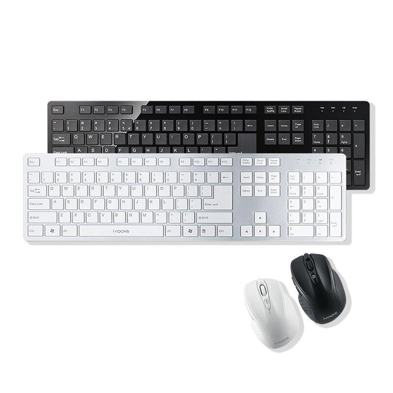 I-Rocks 艾芮克 K01RP 無線 2.4GHz 電競鍵盤滑鼠組 黑色 銀白 PCHot