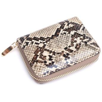 QSCFRET 新しいファッション蛇柄のデザインの女性の財布レザースモールジップメンズ財布蛇女子ラグジュアリーミニ財布 (Color : B)