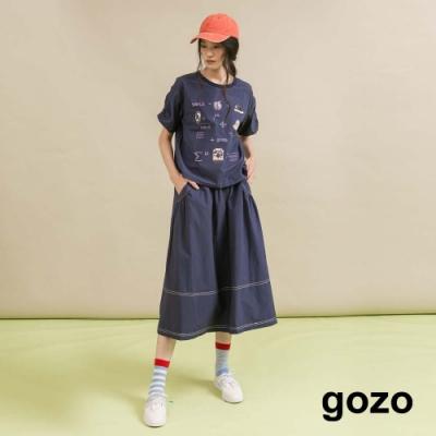 gozo-抽皺可愛公式T(二色)