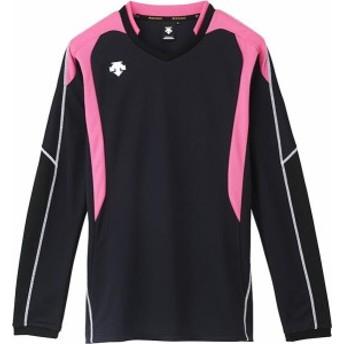 DESCENTE バレー 長袖ゲームシャツ 16SS ブラック/ピンク ケームシャツ・パンツ(dss4610-bpk)