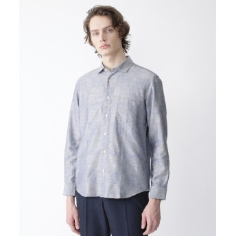 (BLACK LABEL CRESTBRIDGE/ブラックレーベルクレストブリッジ)コットンリネンシャドークレストブリッジチェックシャツ/メンズ ブルー