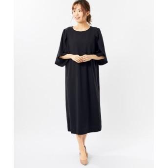 【大きいサイズ】 6分袖チューリップスリーブワンピース(オトナスマイル) ワンピース, plus size dress