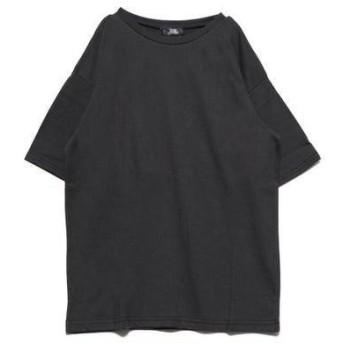 ジーラ GeeRA オーバーシルエットプリントTシャツ (バックフォトチャコール)