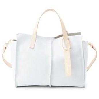 【Airpapel:バッグ】Nananoel 巾着付きレザー2WAYバッグ