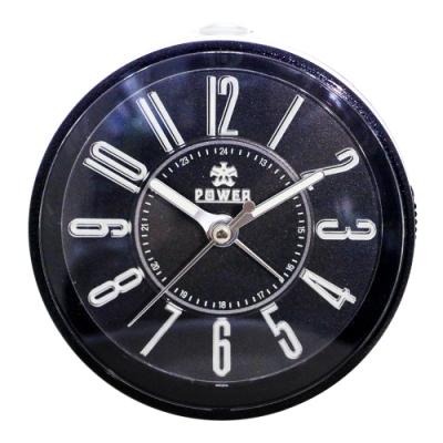 POWER霸王鐘錶-藝術字小鬧鐘-時尚黑-PM667BK-8CM
