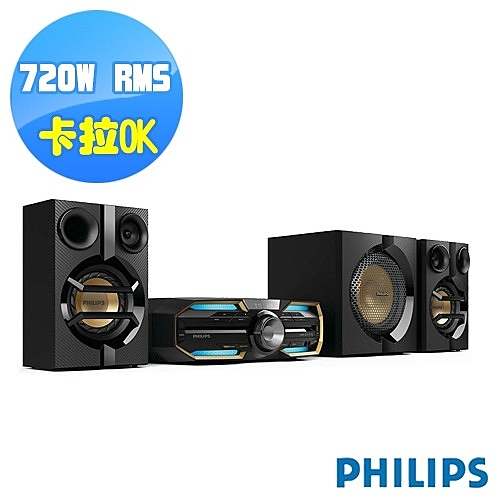 (全新福利品)PHILIPS飛利浦大音量無線藍牙DVD家庭劇院 FXD58