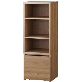 dポイントが貯まる・使える通販  天然木調ブックシェルフ 高さ110cm 781017 【dショッピング】 本棚・ラック・シェルフ おすすめ価格