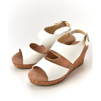 【ゆったり幅】ふわふわなクッションのバックストラップサンダル(ワイズ4E) サンダル, Sandals