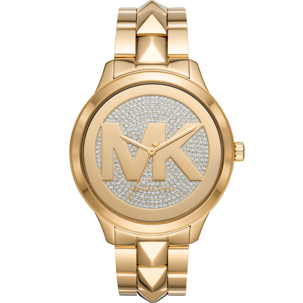 Michael Kors Runway 滿版大LOGO晶鑽手錶(MK6714)
