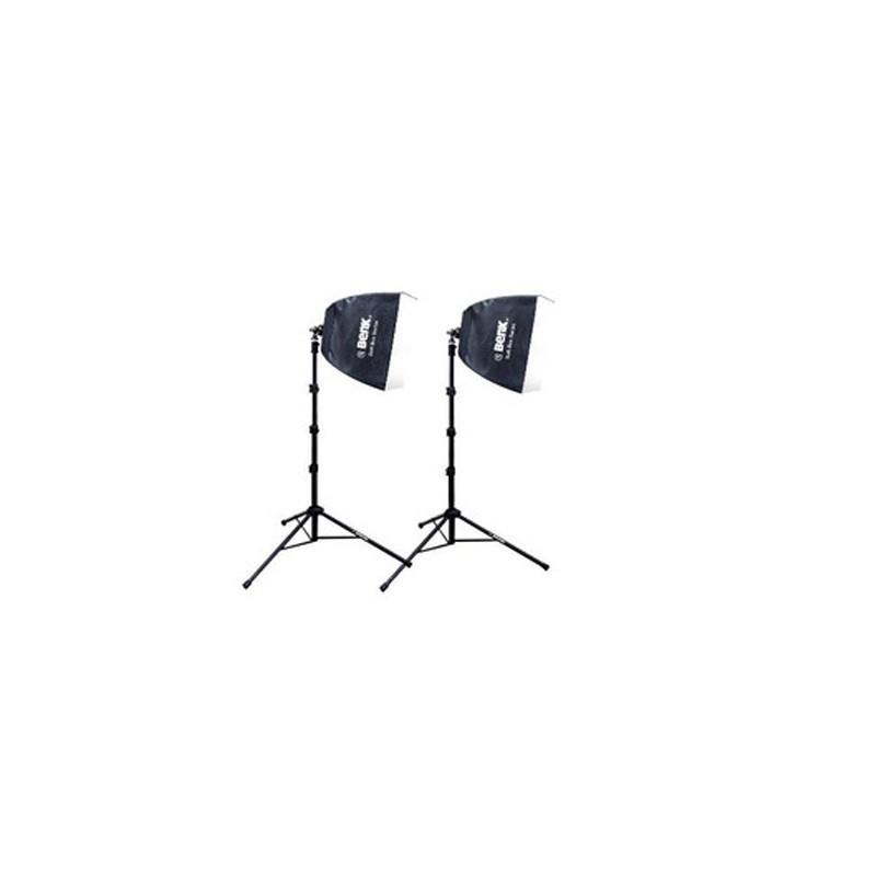 eBENK VLD-2625 30W 四節式落地型攝影棚燈 無影罩45X45cm冷光攝影棚燈(兩只裝)