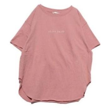 ジェラートピケ gelato pique オーガニックコットンロゴTシャツ (ピンク)