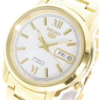 セイコー SEIKO 腕時計 メンズ SNKK84K1 セイコー5 自動巻き ホワイト ゴールド