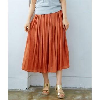 【新色追加♪】ふわり軽い楊柳ロングスカート(選べる2レングス) (ロング丈・マキシ丈スカート)Skirts