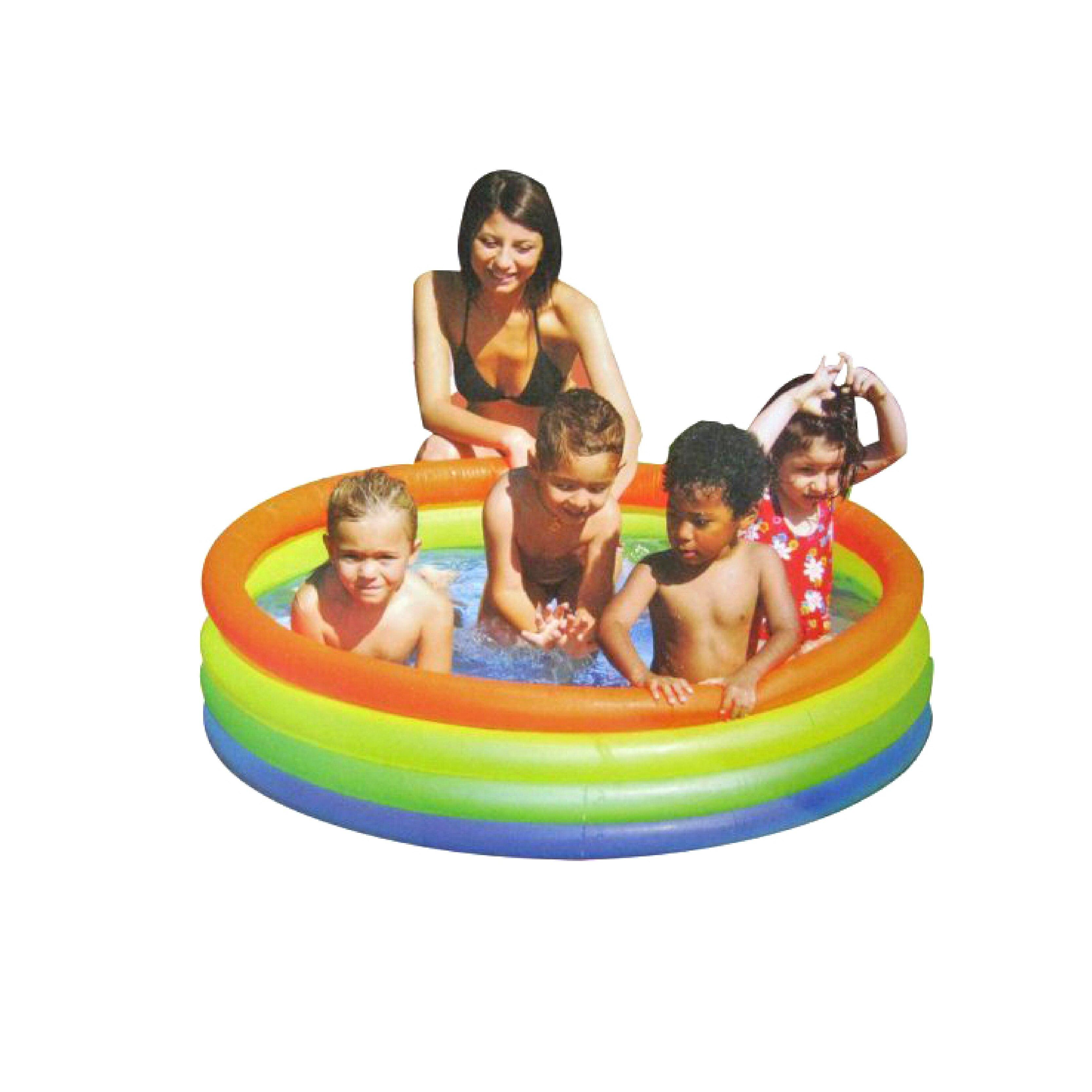 【TreeWalker 露遊】090064四層彩色泳池遊戲池 戲水池 游泳池 流線型設計~無毒環保材質 386L容量