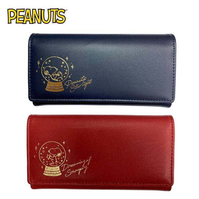 【日本正版】史努比 掀蓋式 長夾 皮夾 錢包 Snoopy PEANUTS
