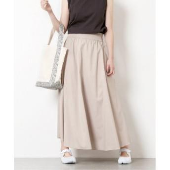 JOURNAL STANDARD スラブクロスギャザースカート◆ ナチュラル 36