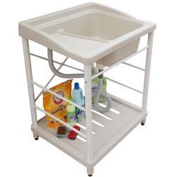 新式大型塑鋼洗衣槽 水槽 洗手台 白烤漆腳架 1入