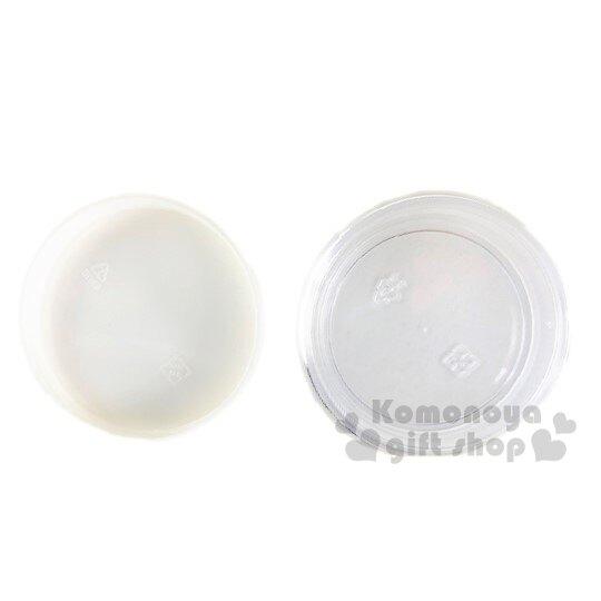 小禮堂 Hello Kitty 圓形透明塑膠乳液罐《米.花朵小熊》30g.分裝瓶罐.空盒