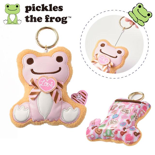 pickles the frog 萌蛙匹克 甜蜜系列 伸縮吊繩 票卡套