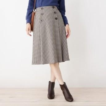 グローブ(grove)/【WEB限定サイズあり】フロントボタンタックAラインスカート