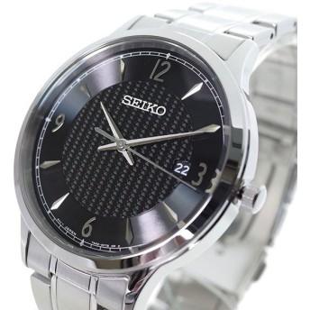セイコー SEIKO 腕時計 メンズ SGEH81P クォーツ ブラック シルバー