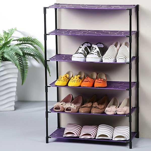 YoStyle 炫紫輕巧六層鞋架 鞋櫃 拖鞋架 置物架