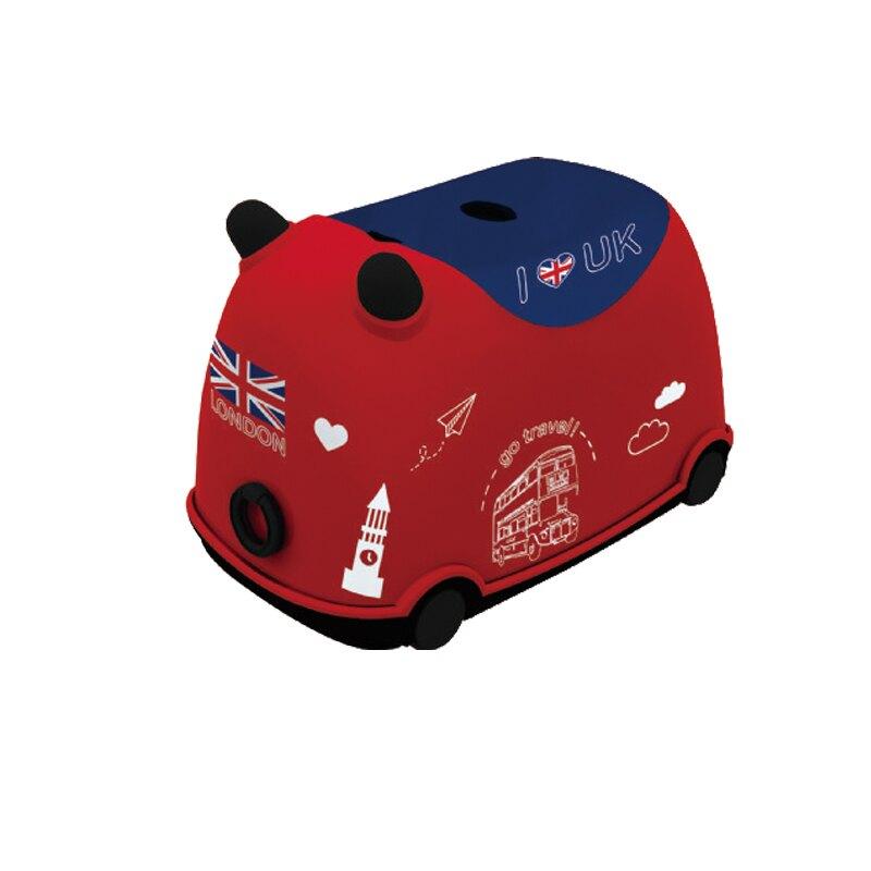 牛BUBU玩具收納車 (英倫紅) 收納箱 玩具車 玩具收納 玩具拉車 【CB-25】  SHUTER樹德 台灣製MIT|宅貨