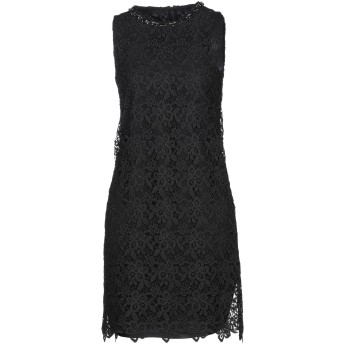 《セール開催中》ERMANNO DI ERMANNO SCERVINO レディース ミニワンピース&ドレス ブラック 38 PES - ポリエーテルサルフォン 100%