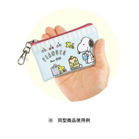 【領券折$30】小禮堂 史努比 方形皮質拉鍊零錢包《粉.愛心墨鏡》掛飾.收納包.耳機包