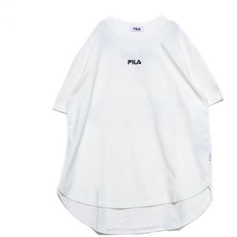 ジーラ GeeRA <FILA>テールカットルーズTシャツ (オフホワイト)