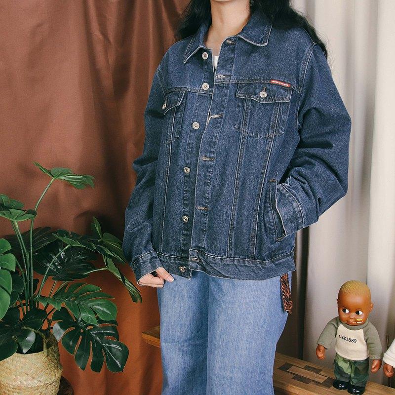 古著牛仔外套010,深藍色 denim 夾克【Tsubasa.Y 古著屋】