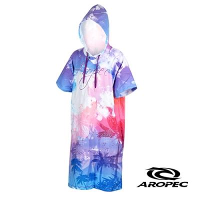 AROPEC Poncho 輕暖速乾沙灘毛巾衣 浪漫夕陽