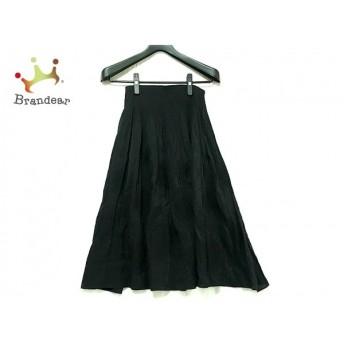 ヒロコビス HIROKO BIS スカート サイズ9 M レディース 黒 ウエストゴム 新着 20200326