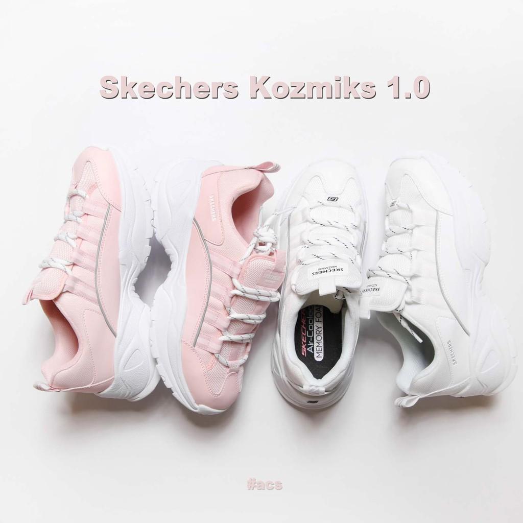 現貨秒發 Skechers 休閒鞋 Kozmiks 1.0 女鞋 復古 老爹鞋 增高4.5CM 粉紅 白 任選【ACS】