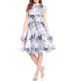 [タハリエーエスエル ] レディース ワンピース Petite Size Floral Sequin Embroidered Dr [並行輸入品]