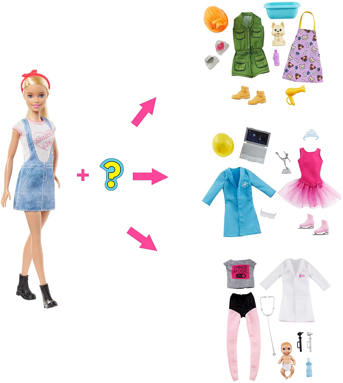 《芭比》洋娃娃 芭比驚喜職場造型組合 東喬精品百貨