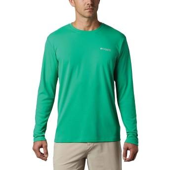 Columbia(コロンビア) トップス Tシャツ Columbia Men's PFG Zero Rules LS Shirt Dark Lime メンズ [並行輸入品]