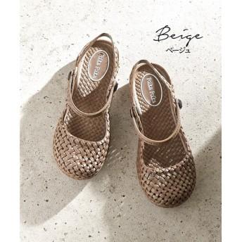 polka polka(ポルカポルカ)ストラップ付メッシュシューズ シューズ(フラットシューズ) Shoes