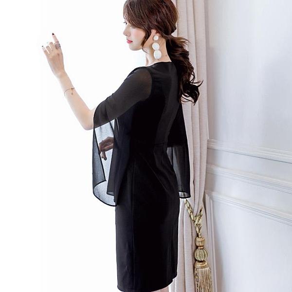 彩黛妃2020韓版修身百搭時尚大碼潮流拼接休閒洋裝 新年钜惠