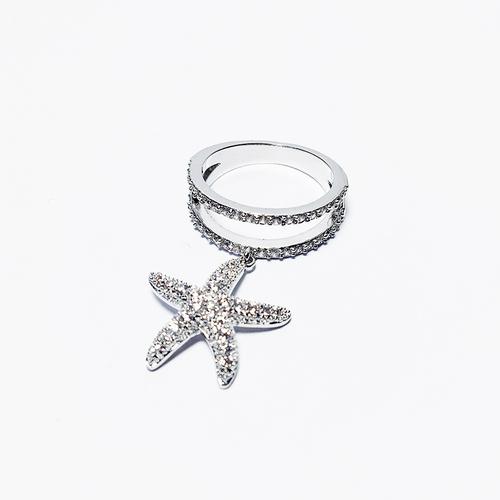 Olivia奧莉精品 海星戒指