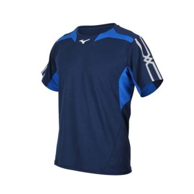 MIZUNO 男 短袖T恤 丈青藍白