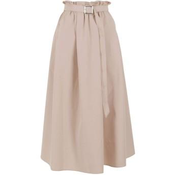 [神戸レタス] はらちゃんコラボ デザイン スカート [M2828] レディース ML ベルト付きベージュ